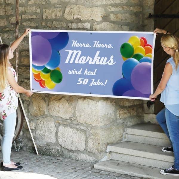 XXL Geburtstagsbanner personalisiert - Hurra