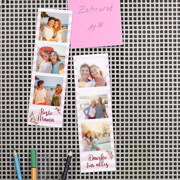 Fotostreifen aus Magnetfolie zum Muttertag