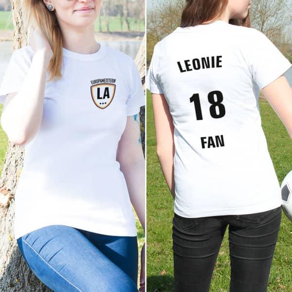 Fußball Shirt für Damen mit Aufdruck von und hinten