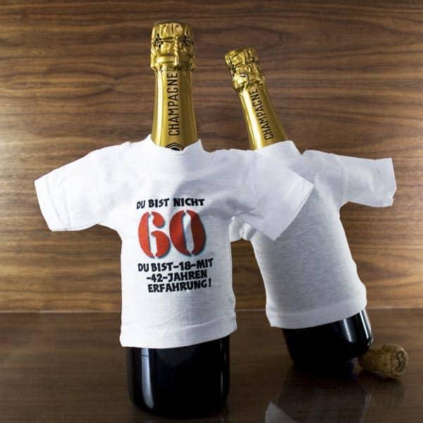 Flaschenshirt zum 60.