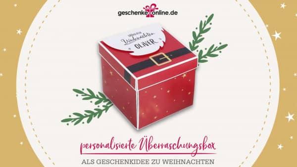 Überraschungsbox als Weihnachtsgeschenk