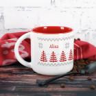 Große Tasse mit nordischem Motiv und Name