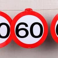 Wimpelkette - Verkehrsschild 60