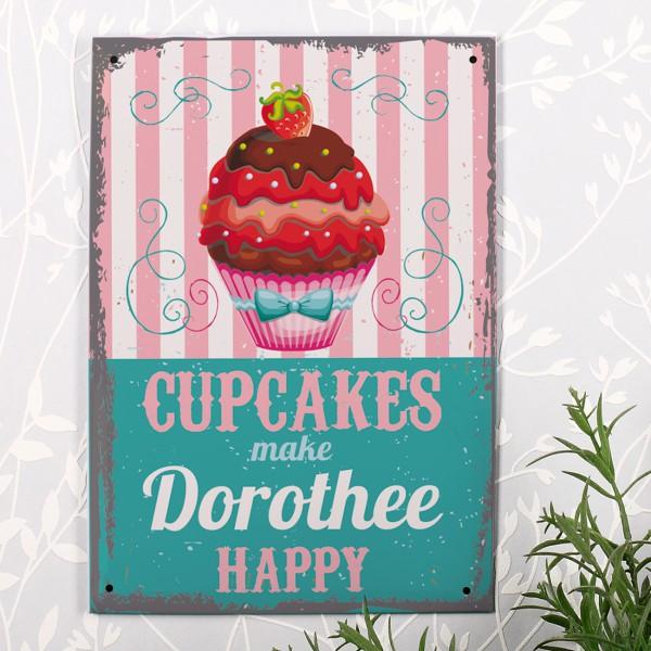 Küchen-Schild mit Name personalisiert für Cupcake-Fans
