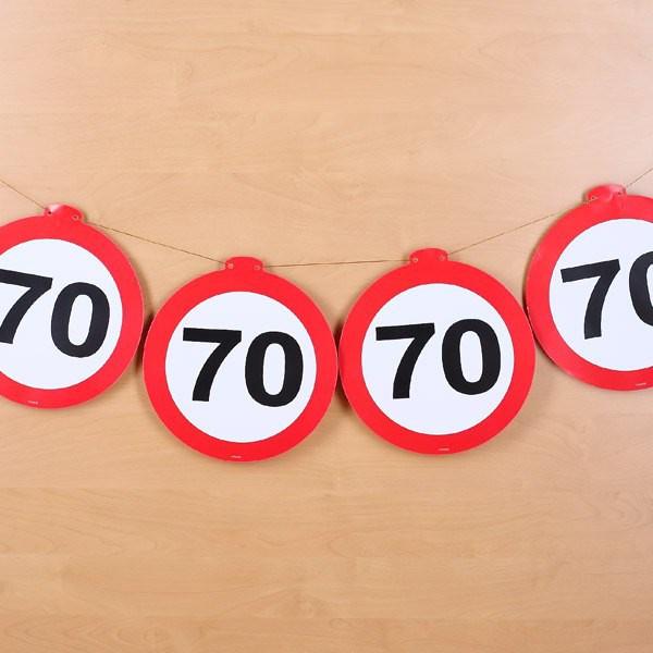 Deko Girlande Verkehrszeichen 70