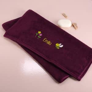 Bienchen Handtuch mit Name bestickt