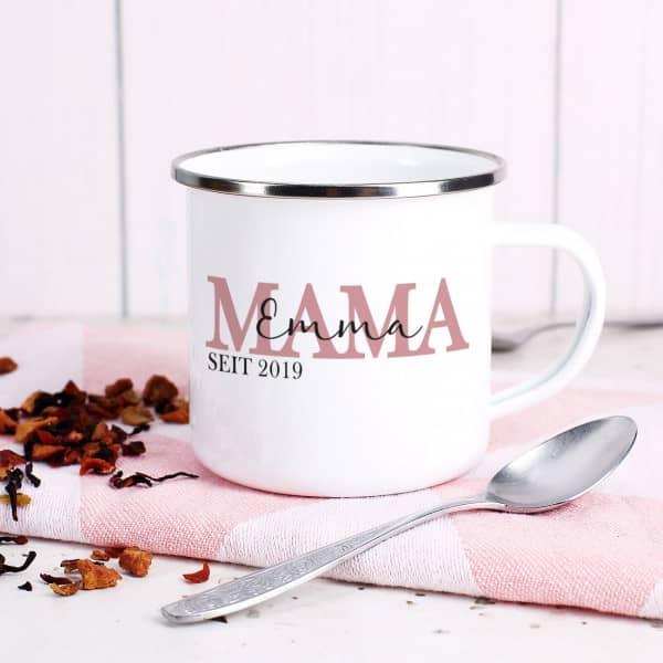 Emaille Tasse für die beste Mama