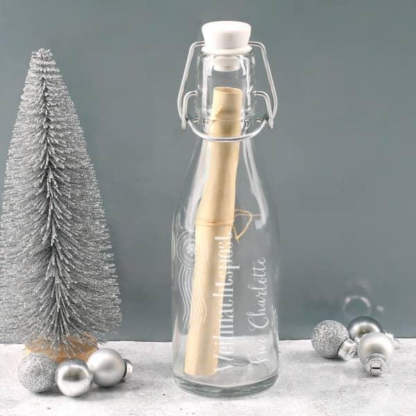 Kleine Weihnachtspost aus der Flasche