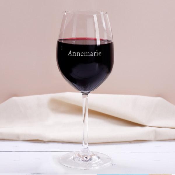Weinglas graviert mit Name
