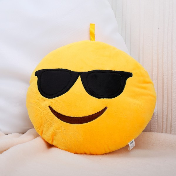Kissen mit coolem Smiley