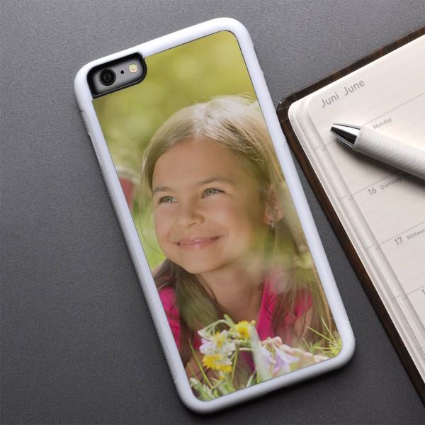 weißes iPhone 6 Plus Cover mit Ihrem Foto