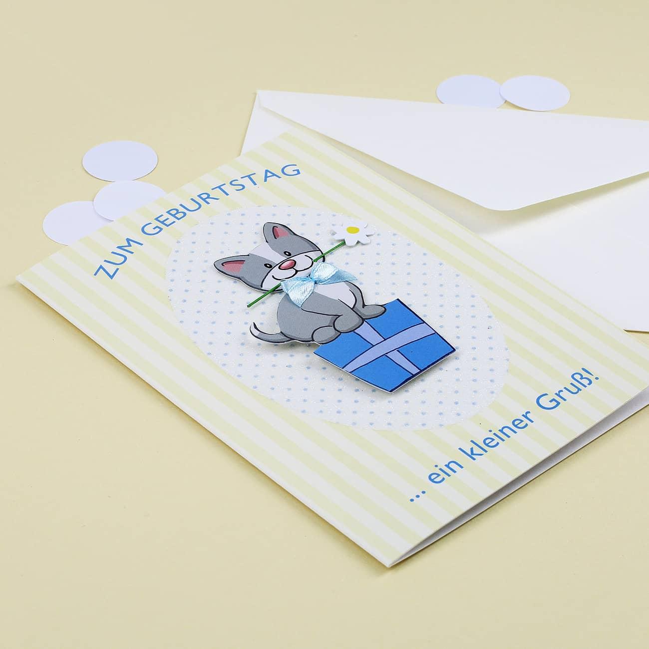 3D Katze Faltkarte Geburtstag Muttertag-Frohe Weihnachten Karten V8I8 J7M G6H3