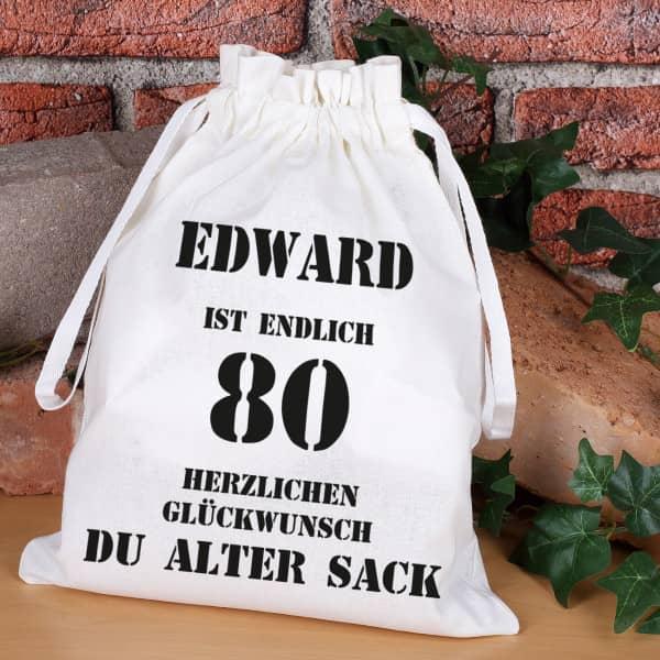Geschenksack zum 80. Geburtstag