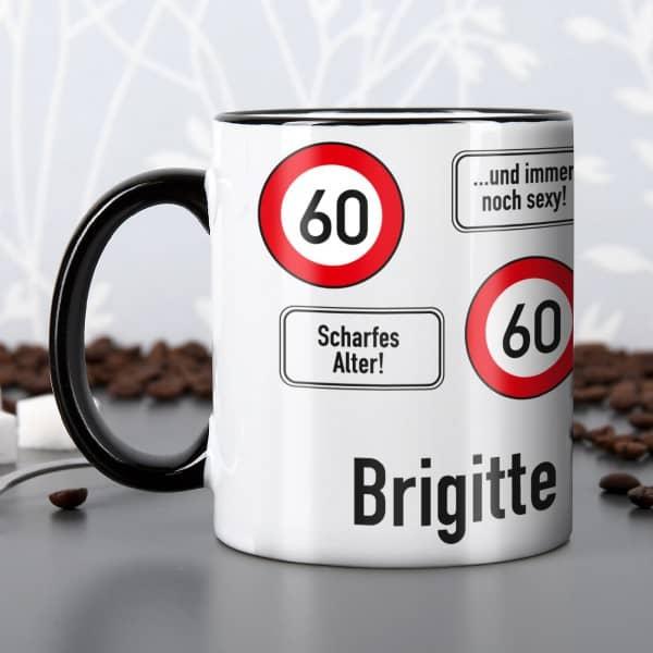 Tasse zum 60. Geburtstag mit Namen
