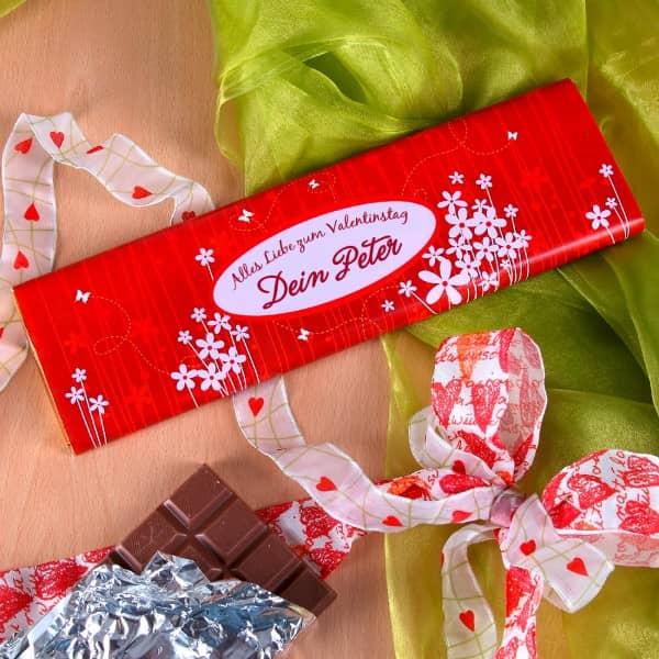 Schokolade zum Valentinstaf mit Namen