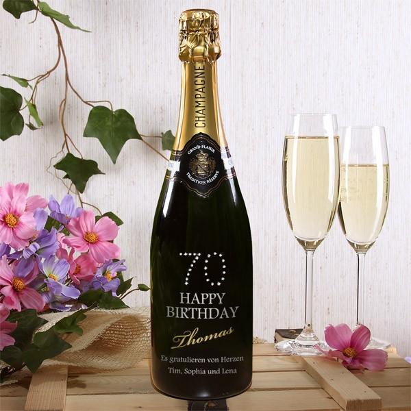 Champagner zum 70. Geburtstag