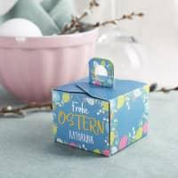 6 kleine Geschenkboxen zu Ostern mit Wunschname