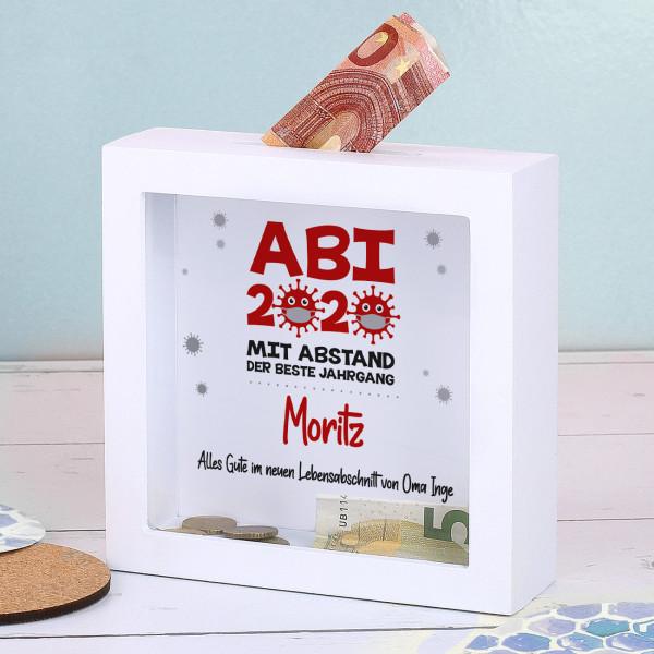 Geldgeschenk zum ABI 2020 - Mit Abstand der beste Jahrgang - Bilderrahmen Spardose