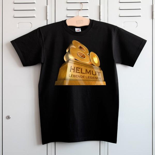T Shirt zum 80. Geburtstag mit Wusnchnamen und Spruch