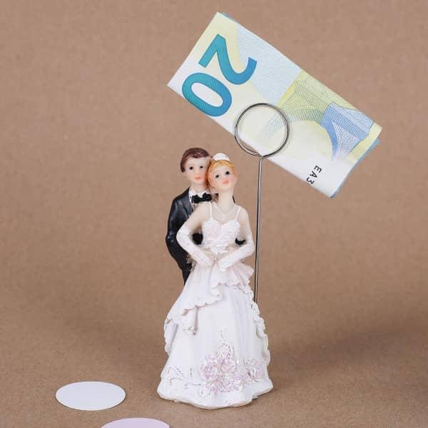 Brautpaar Figur mit Geldclip