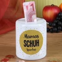 Persönliche Keramik-Spardose mit Name und Wunschtext