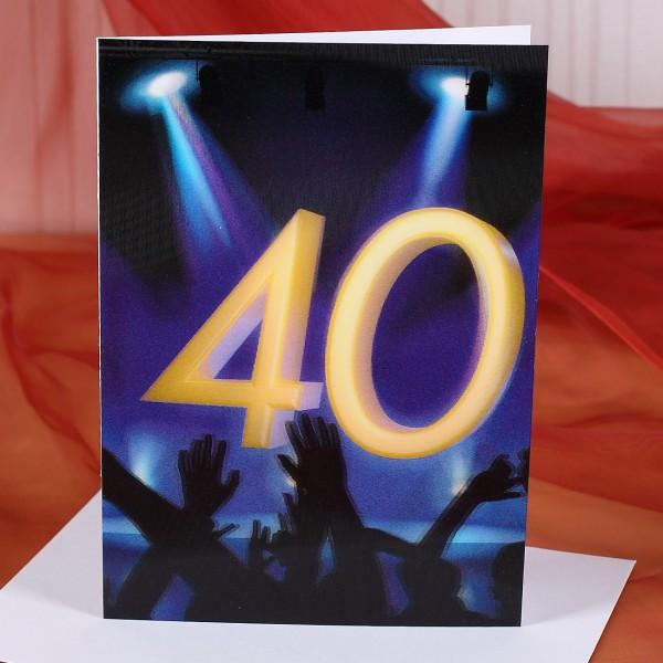 Wackelkarte zum 40. Geburtstag