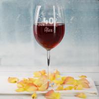 Happy Birthday 40 - Weinglas zum 40. Geburtstag mit Namensgravur
