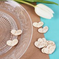 Streudeko Herzen aus Holz - Love