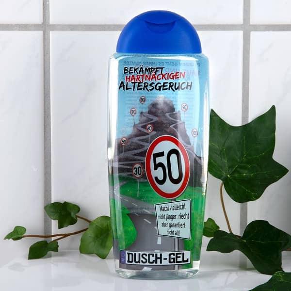Duschgel Altersgeruch Zum 50 Geburtstag Mit Lustigen Spruchen