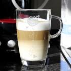 persönliches Latte Macchiato Glas mit Gravur des Namens