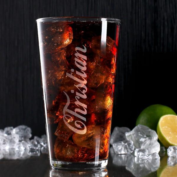 Longdrink-Glas mit persönlicher Namensgravur