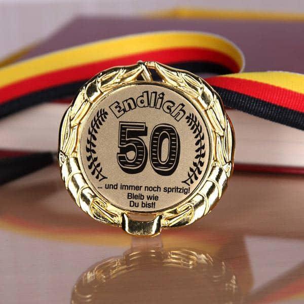 Medaille zum 50. Geburtstag