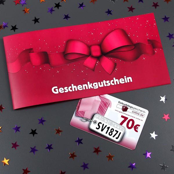 Geschenkgutschein im Wert von 70 Euro