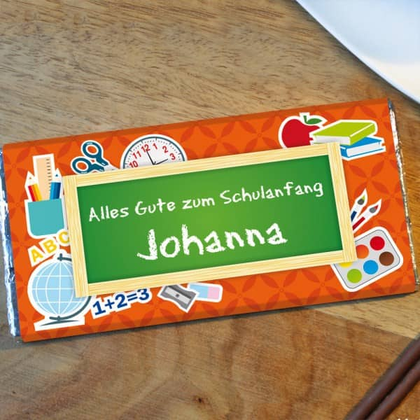 Schokolade zum Schulanfang mit Namen