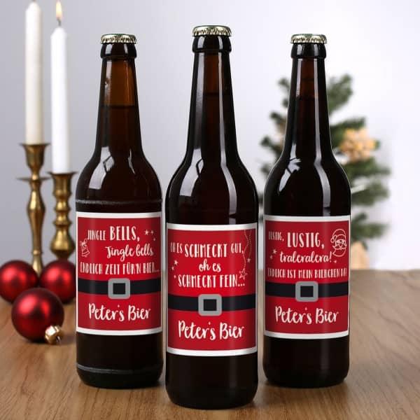 Bieraufkleber Weihnachten Lieder Wunschtext