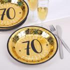 10 Goldene Pappteller zum 70. Geburtstag