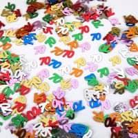 Deko für den Tisch - Zahlenkonfetti 70