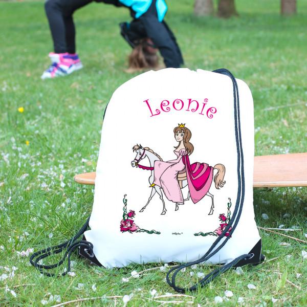 Sportbeutel für Mädchen Prinzessin auf Pferd