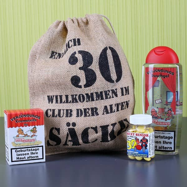 Geschenkset zum 30. Geburtstag