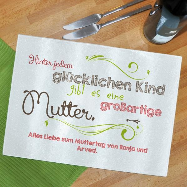 Glasbrettchen für Mütter mit schönem Spruch zum Muttertag