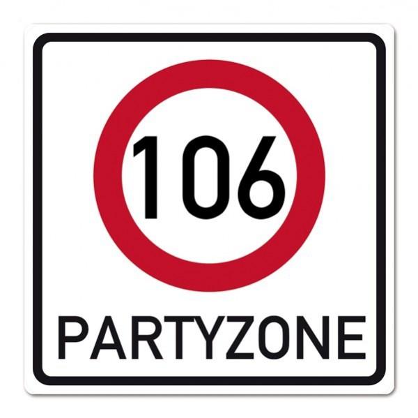 PVC-Banner zum 106. Geburtstag