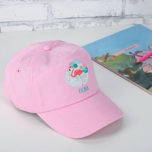 Individuellbekleidung - Basecap für Mädchen Flamingo - Onlineshop Geschenke online.de