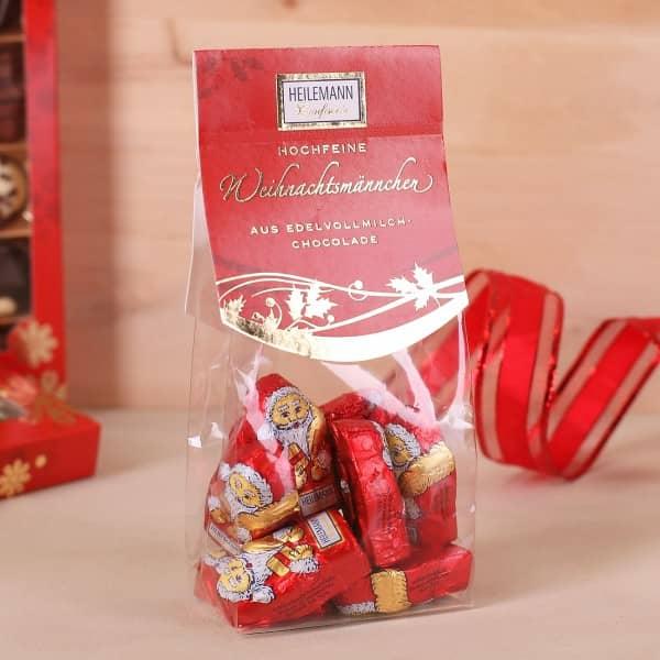 Weihnachtsmännchen aus Edelvollmilch Schokolade