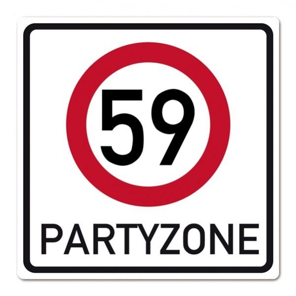 Riesiges Schild zum 59. Geburtstag