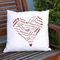 Kissen mit dem Herz der Liebenden