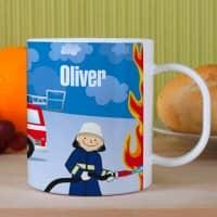 Feuerwehr- Tasse aus bruchfesten Kunststoff für Kinder