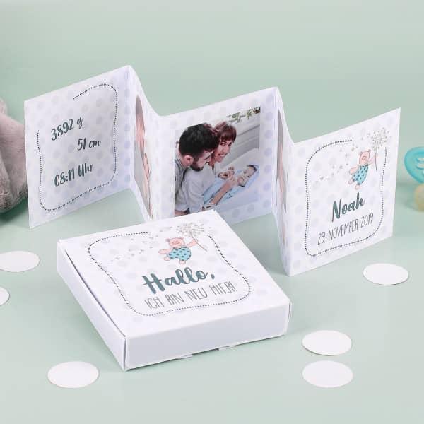 Mini Fotoalbum mit passender Geschenkschachtel