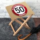 Klapphocker 50. Geburtstag Altersruhesitz
