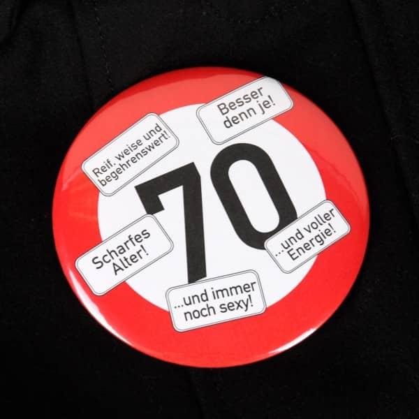 Riesen-Button Verkehrszeichen 70