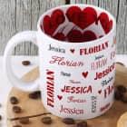 Namenstasse zum Valentinstag innen und außen bedruckt